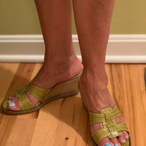 Donald J Pliner Mule Wedge Sandals